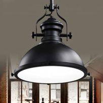 Wewoo   Lampe Suspendue Luminaire Salon Led Creative Antique Art De Fer  Pendentif Lumière E27 Ampoule