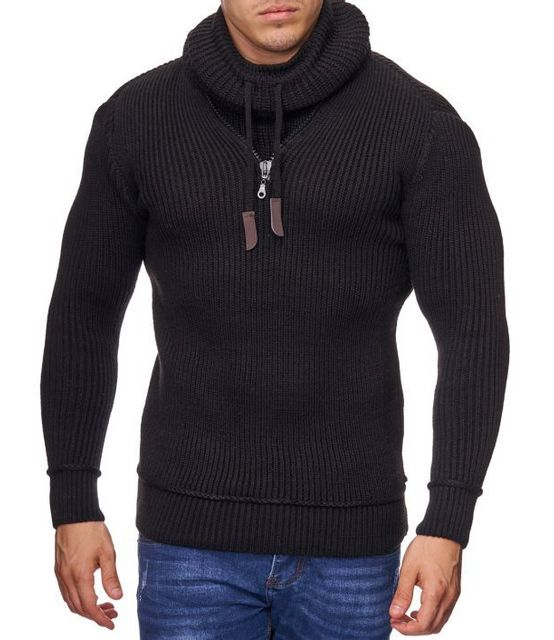 effb8cb955b5 Violento - Pull fashion col chale noir - pas cher Achat   Vente Pull homme  - RueDuCommerce