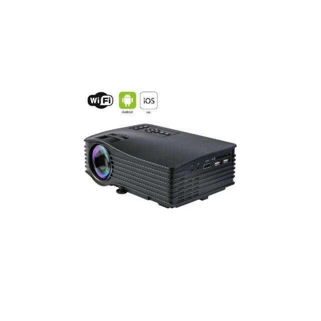 Auto-hightech Mini projecteur WiFi Hdmi Usb Home Cinéma - Noir / Prise Ue