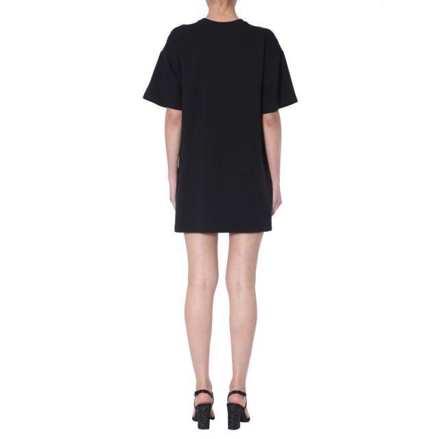 MOSCHINO Femme A043754265555 Noir Coton Robe