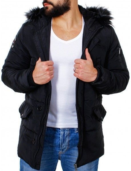 Manteau long РіВ  capuche homme