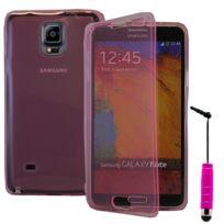 Vcomp - Housse Etui Coque silicone gel Portefeuille Livre rabat pour Samsung Galaxy Note 4 Sm-n910F/ Note 4 Duos Dual Sim, N9100/ Note 4 CDMA, / N910C N910W8 N910V N910A N910T N910M + mini stylet - Rose