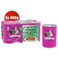Whiskas - Boîtes La Carte du Marché en Sauce pour Chat - 6x400g