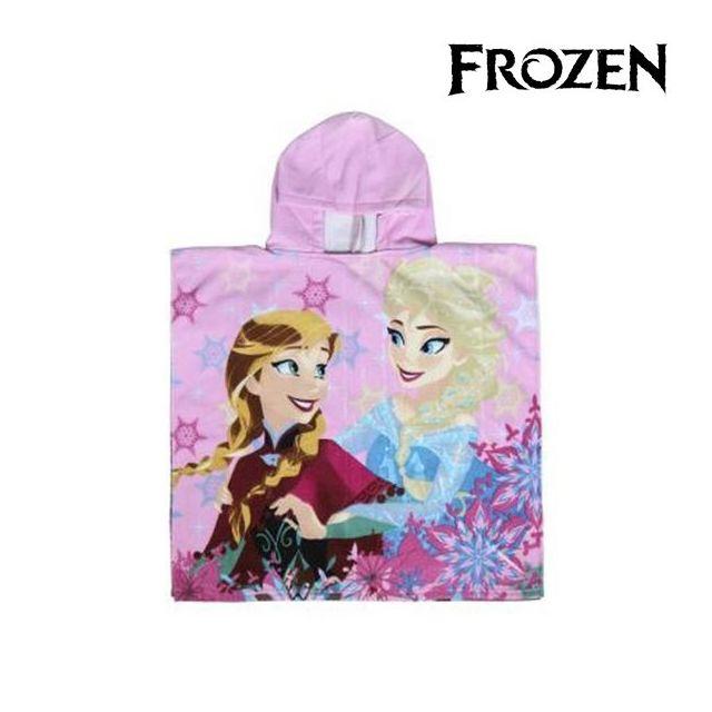Serviette en forme de poncho avec capuche couleur rose La Reine des Neiges  - Serviette 4ab4d4afbc95