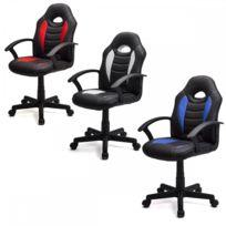 Homekraft - Dynamic fauteuil de bureau chaise de jeu Gamer Blanc