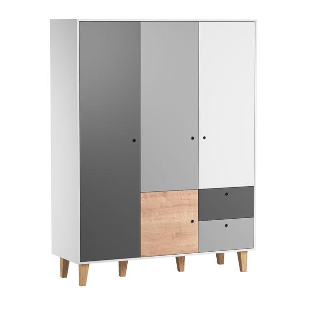 Vox Armoire 3 portes Concept - Bois