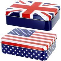promobo set ensemble lot de 2 boite rangement dcor drapeau royaume uni et usa