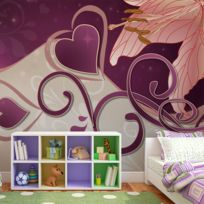 Bimago - Makossa-a1-LFTNT1505 - Papier peint - Lily in violets 200x154