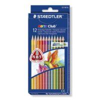 Staedtler - Noris Club - Pack de 12 Crayons de couleur triangulaire - Assortis