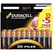 Duracell - blister de 15 + 5 piles plus power 1.5v lr06