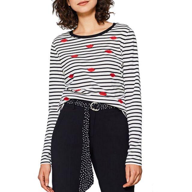 Esprit T-Shirt Manches Longues Femme