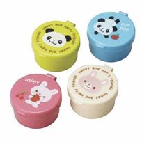 Torune – Jolibento - 4 récipients à sauce en plastique Accessoires Kawaii - Panda et Lapin