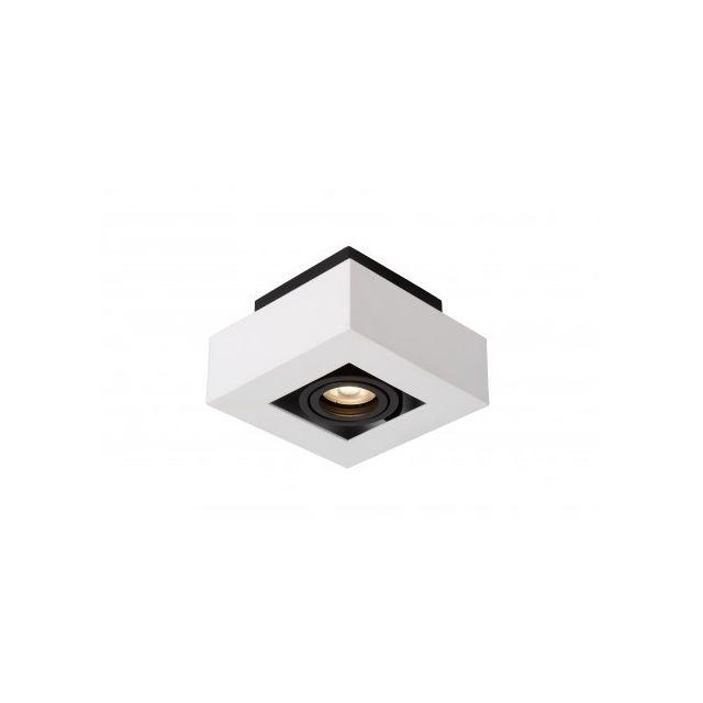 Lucide Xirax - Spot Plafond - Led Dim Gu10 - 1x5W 3000K - Blanc
