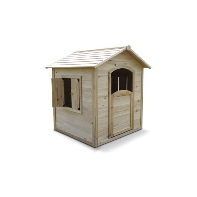 oviala maisonnette en bois pour enfant pas cher achat. Black Bedroom Furniture Sets. Home Design Ideas