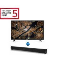 TV LED 40'' 102 cm LC-40FG3242E - Noir + barre de son 2.0 bluetooth