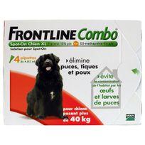 Frontline - Combo - Pipettes Antiparasitaire pour Chien de 40 à 60Kg - 4x4,02ml