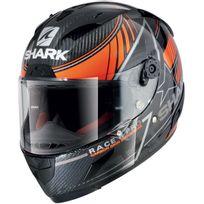 Shark - casque moto intégral Racing en Carbone Race-r Pro Carbon Kolov Dok noir orange gris brillant L