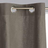 Atmosphera - Lot de 2 rideaux à œillets gris foncés 135 x 240 cm