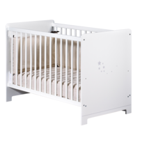 TEX BABY - Lit bébé LITTLE STAR - 60 x 120 cm - Blanc