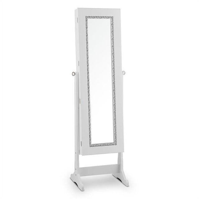 ONECONCEPT - Sissi Armoire à bijoux inclinable rangement miroir LED ...