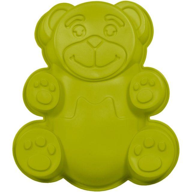 Promobo Moule à Gateau en silicone Ourson Forme Ludique Animal Vert