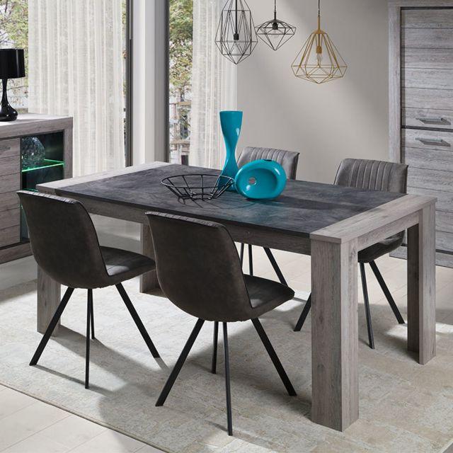Sofamobili Table 180 cm contemporaine couleur bois Nathan