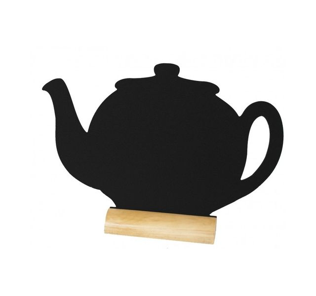 Securit Ardoise noire - Silhouette de table Theiere + Marqueur craie liquide