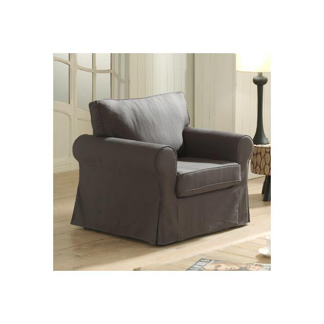 Canapé fauteuil fixes gris Jaipur