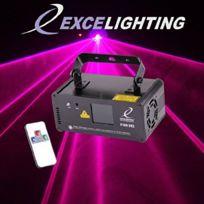 Excelighting - Jeu de lumière laser P200-DMX Rose