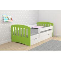 kidsaw lit enfant tracteur vert pour enfant 70 x 140 cm ted dessin anim pas cher achat. Black Bedroom Furniture Sets. Home Design Ideas