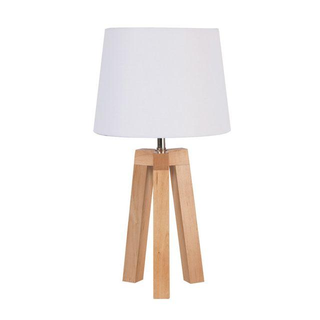 lampadaire bois blanc. Black Bedroom Furniture Sets. Home Design Ideas