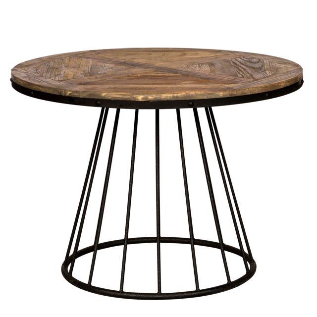 Rendez Vous Deco Table Pralus ronde en bois 110 cm