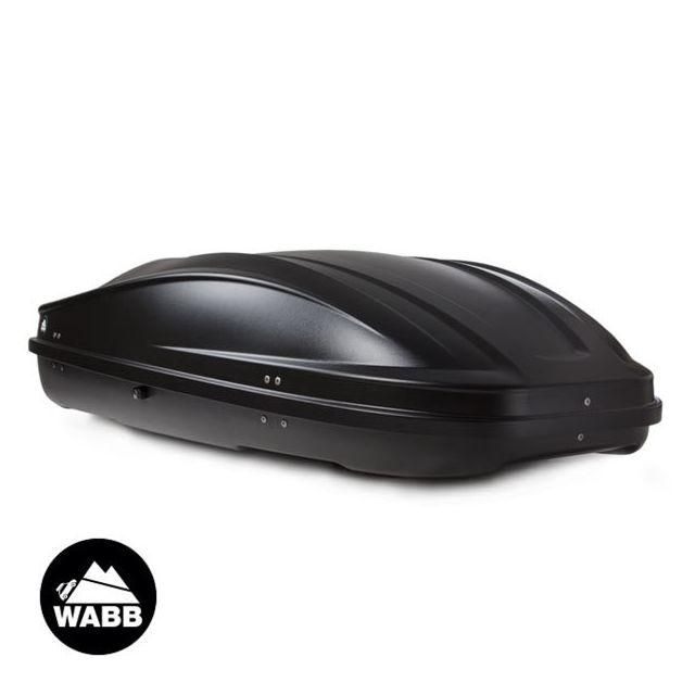 wabb coffre de toit m noir 330 litres pas cher achat. Black Bedroom Furniture Sets. Home Design Ideas