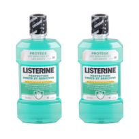 Listerine - Lot de 2 Bains de bouche Protection dents et genvices - 500 ml