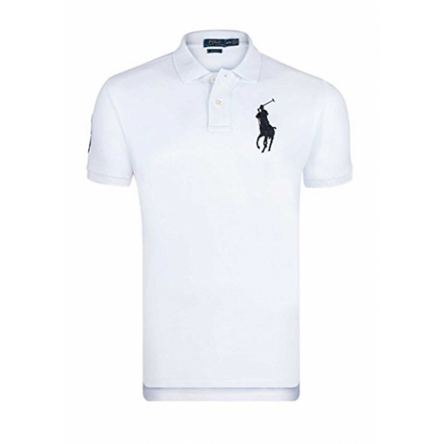 Ralph Lauren - Polo Blanc Custom-fit Big Poney - pas cher Achat   Vente Polo  homme - RueDuCommerce 6215bcde4596