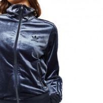 Adidas firebird bleu ciel bande bleu marine. Solde. Adidas originals - Fb  Tt Femme Sweat Bleu Adidas f2ff4b5423c