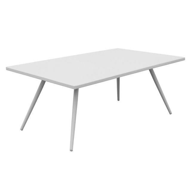 Mathilde Et Pauline Table basse en aluminium blanc 95x55 cm Mansion