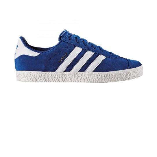 Adidas originals - Chaussures Gazelle 2 Bleu/Blanc Jr h16 38 2/3 - pas cher Achat / Vente Baskets enfant - RueDuCommerce