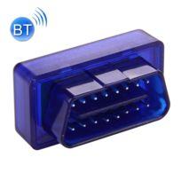 Wewoo - Lecteur de Code Prise outil diagnostic diagnostique scanner voiture mini Obdii Bluetooth 2.0 B21 appui 7 protocoles bleu