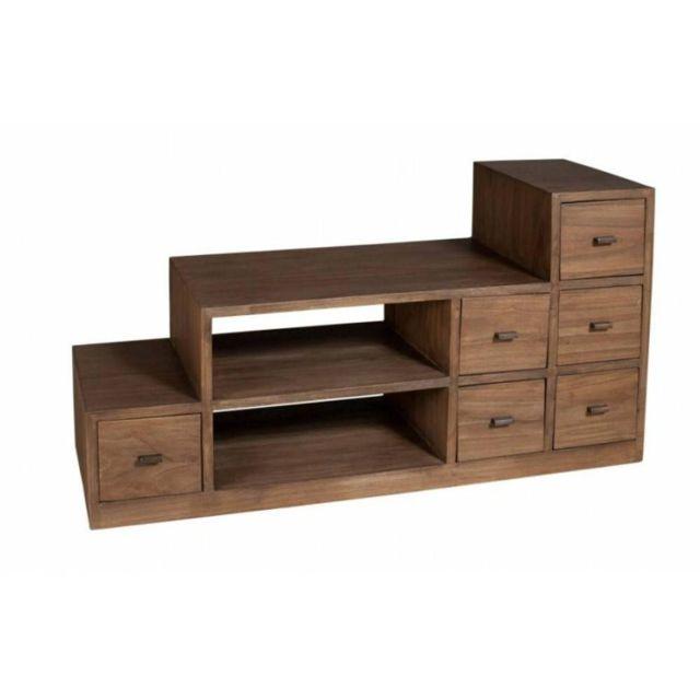 inside 75 meuble tv escalier laura en midi style colonial pas cher achat vente meubles tv. Black Bedroom Furniture Sets. Home Design Ideas