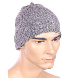 lacoste homme bonnet en laine gris rb3504 pas cher achat vente casquettes bonnets. Black Bedroom Furniture Sets. Home Design Ideas