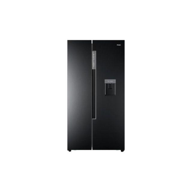 Haier Hrf-522ib6 - Refrigerateur Americain - 500 L 331 L + 169 L - Total No Frost - A+ - L 90,8 X H 179 Cm - Noir
