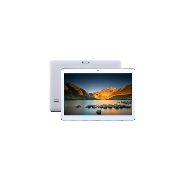 Auto-hightech Tablette Pc, 10.1 pouces, 1Go+16Go, Android 4.4.2 Allwinner A33 Quad-core jusqu'à 1.3GHz, WiFi blanc