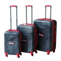 LEE COOPER - Set de 3 valises rigides DENIM - ABS et polycarbonate - Noir