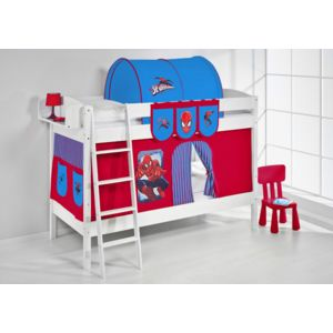 lilokids lits superpos s ida 4105 90x200 cm spiderman lit sur lev volutif blanc laqu. Black Bedroom Furniture Sets. Home Design Ideas