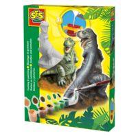 Ses Creative - Moulage en plâtre et peinture : Dinosaure T-rex