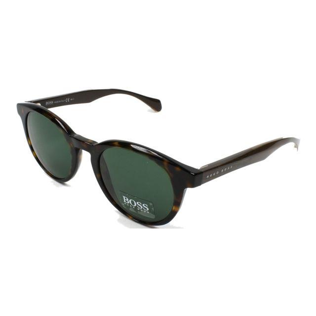 Hugo Boss - Boss-0912-S 1JC 85 Havane - Lunettes de soleil - pas cher Achat    Vente Lunettes Tendance - RueDuCommerce 9a13d644dd23