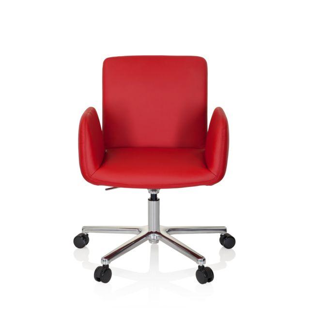 Hjh Office Chaise de bureau / chaise de direction Designia similicuir rouge