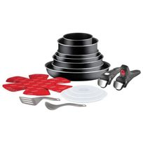 Tefal - Ingenio Essential Batterie de cuisine L2499102 18 pieces 16-20-22-24-28cm tous feux sauf induction