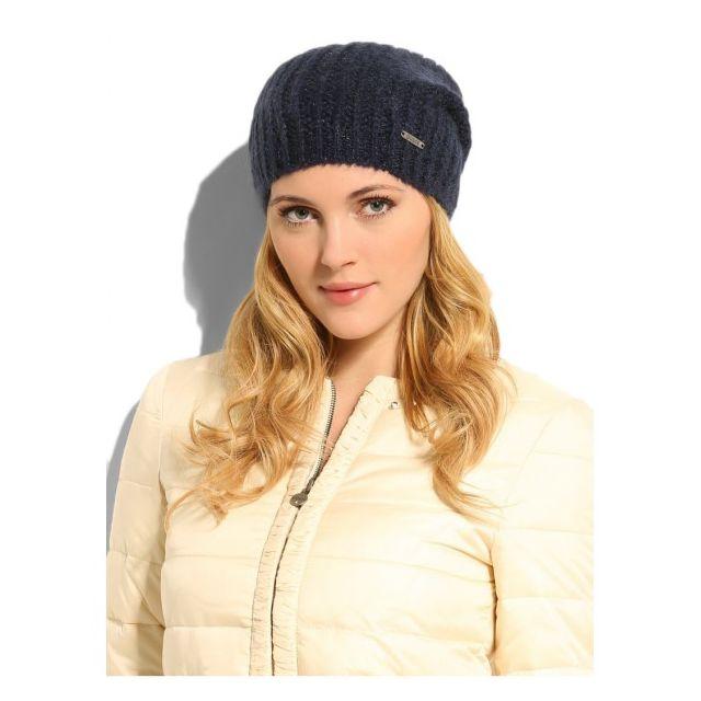 Guess - Bonnet Letizia Bleu Marine - pas cher Achat   Vente Casquettes,  bonnets, chapeaux - RueDuCommerce a6c89077006